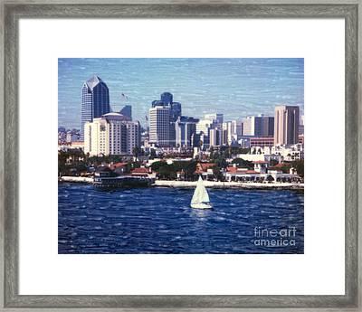 San Diego Seaport Village Framed Print