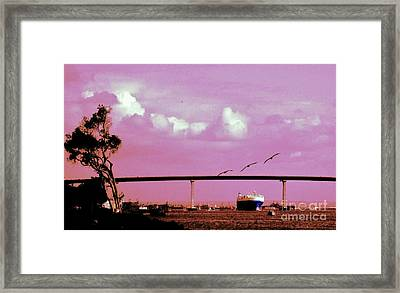 Framed Print featuring the photograph San Diego Seascape by Jasna Gopic