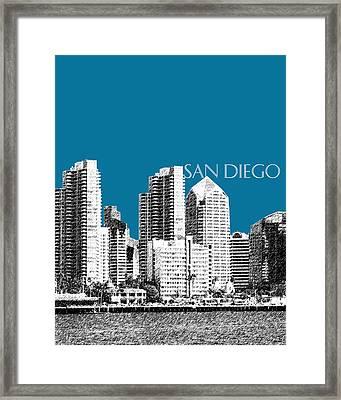 San Diego Skyline 1 - Steel Framed Print