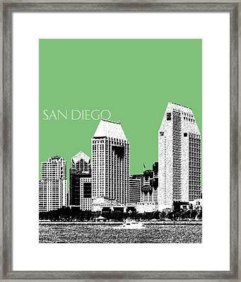 San Diego Skyline 2 - Apple Framed Print