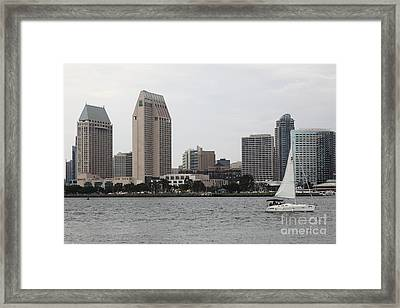 San Diego Skyline 5d24333 Framed Print by Wingsdomain Art and Photography