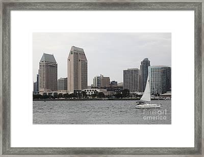San Diego Skyline 5d24333 Framed Print