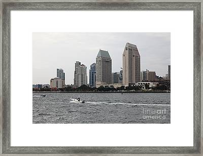 San Diego Skyline 5d24334 Framed Print by Wingsdomain Art and Photography