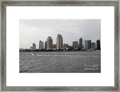 San Diego Skyline 5d24335 Framed Print by Wingsdomain Art and Photography