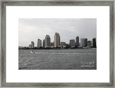 San Diego Skyline 5d24335 Framed Print