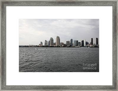 San Diego Skyline 5d24336 Framed Print by Wingsdomain Art and Photography