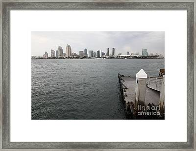 San Diego Skyline 5d24348 Framed Print by Wingsdomain Art and Photography