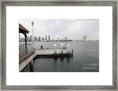 San Diego Skyline 5d24349 Framed Print by Wingsdomain Art and Photography