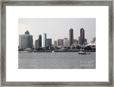 San Diego Skyline 5d24380 Framed Print by Wingsdomain Art and Photography