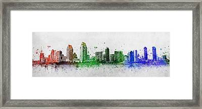 San Diego Skyline Framed Print