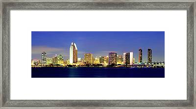 San Diego Skyline At Dusk, Viewed Framed Print
