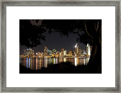 Framed Print featuring the photograph San Diego Skyline Framed 1 by Lee Kirchhevel