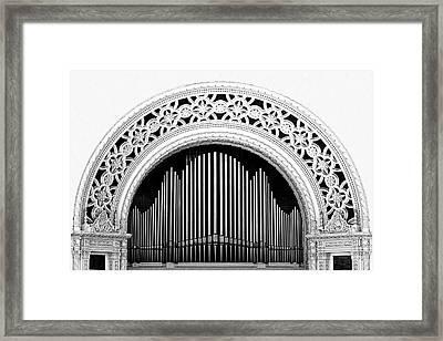 San Diego Spreckels Organ Framed Print by Christine Till