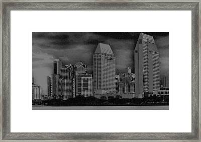 San Diego Storm Framed Print by Kirt Tisdale