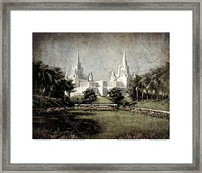 San Diego Temple Antique Framed Print