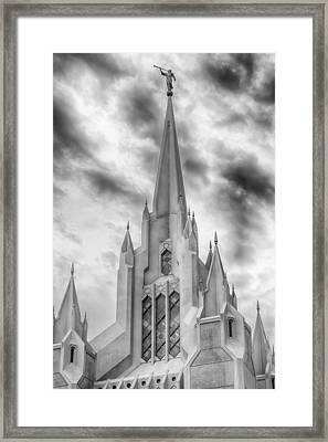 San Diego Temple Framed Print by Kevin Rowe