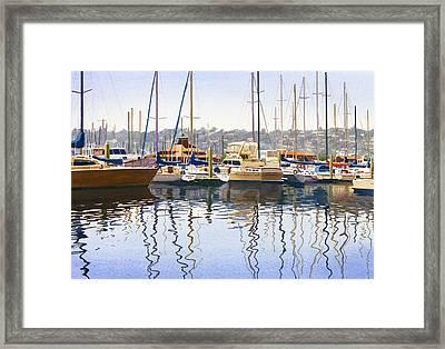 San Diego Yacht Club Framed Print by Mary Helmreich