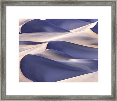 San Dunes Abstract Framed Print