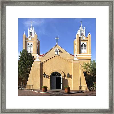 San Felipe Church - Old Town Albuquerque   Framed Print by Mike McGlothlen