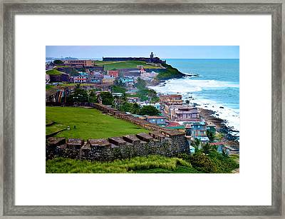 Framed Print featuring the photograph San Felipe Del Morro Fortress From San Cristobal by Ricardo J Ruiz de Porras