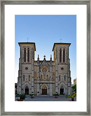 San Fernando Cathedral - San Antonio Tx Framed Print by Christine Till