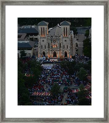 San Fernando Cathedral 001 Framed Print by Shawn Marlow