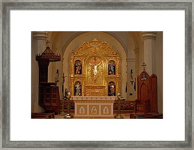 San Fernando Cathedral Retablo Framed Print by Christine Till