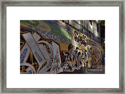 San Fran Street Art Framed Print by David Bearden