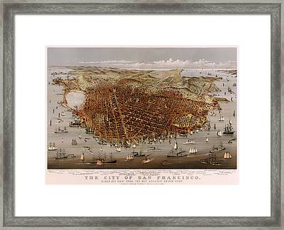 San Francisco 1877 Framed Print by Mountain Dreams