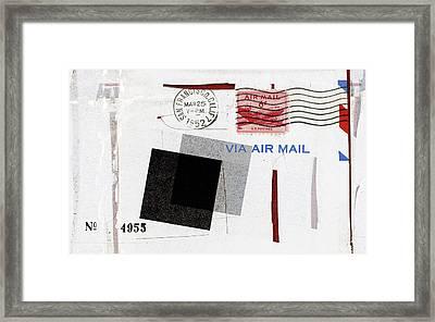 San Francisco 1952 Air Mail Framed Print