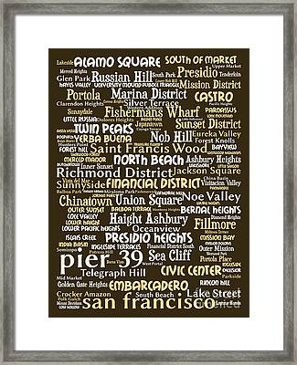 San Francisco 20130710bwwa85 Framed Print by Wingsdomain Art and Photography