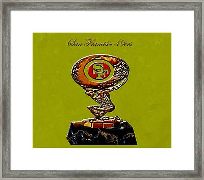 San Francisco 49ers Framed Print by Brian Reaves