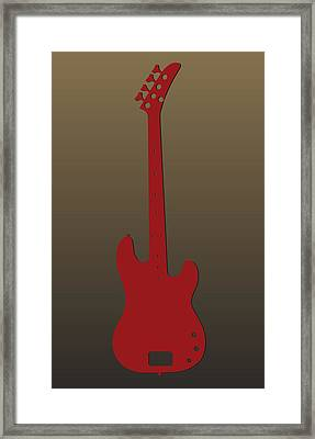 San Francisco 49ers Guitar Framed Print
