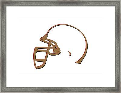 San Francisco 49ers Helmet Framed Print by Joe Hamilton