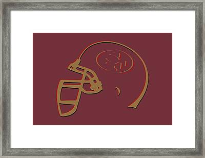 San Francisco 49ers Helmet1 Framed Print by Joe Hamilton