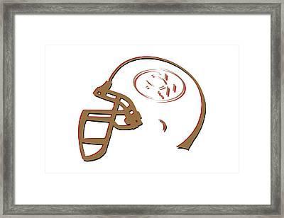 San Francisco 49ers Helmet3 Framed Print by Joe Hamilton