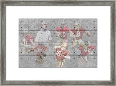 San Francisco 49ers Legends Framed Print by Joe Hamilton