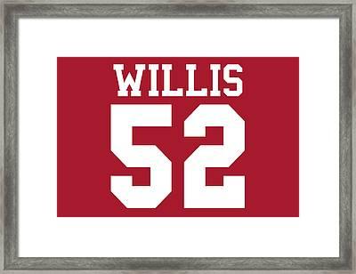 San Francisco 49ers Patrick Willis Framed Print