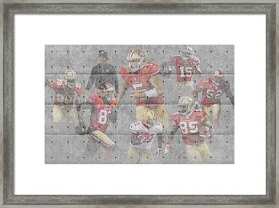 San Francisco 49ers Team Framed Print by Joe Hamilton
