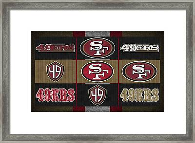 San Francisco 49ers Uniform Patches Framed Print