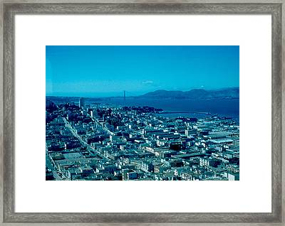 San Francisco 6 1955 Framed Print by Cumberland Warden