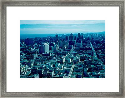 San Francisco 9 1955 Framed Print by Cumberland Warden