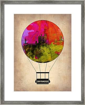 San Francisco Air Balloon 1 Framed Print by Naxart Studio