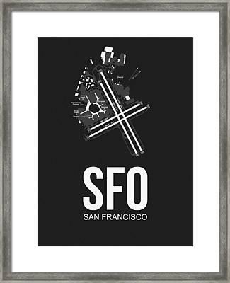 San Francisco Airport Poster 1 Framed Print by Naxart Studio