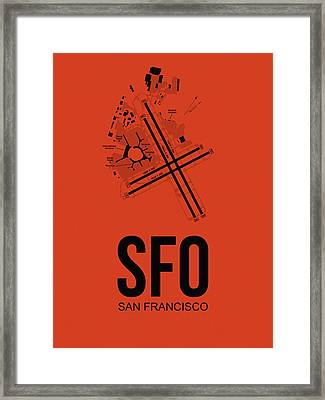 San Francisco Airport Poster 2 Framed Print by Naxart Studio