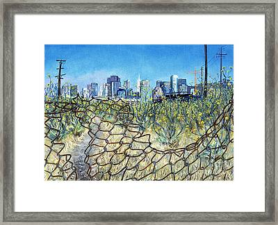 Framed Print featuring the painting San Francisco And Flowery Vagabond Path Of Yesterday by Asha Carolyn Young