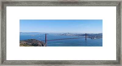 San Francisco And The Golden Gate Bridge Framed Print