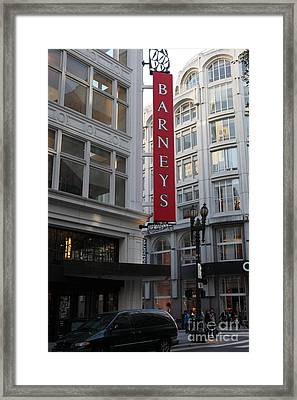 San Francisco Barneys Department Store - 5d20544 Framed Print by Wingsdomain Art and Photography