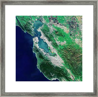 San Francisco Bay Area Framed Print by European Space Agency/usgs