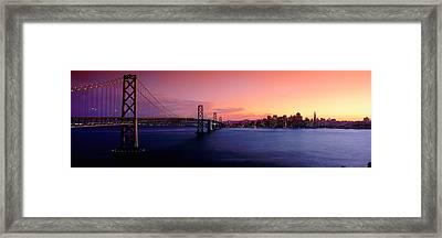 San Francisco Bay At Sunset Framed Print